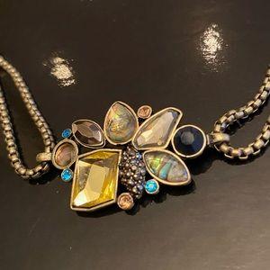 Goldtone & Blue Paua Shell Bracelet